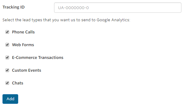 Google Analytics Call Tracking
