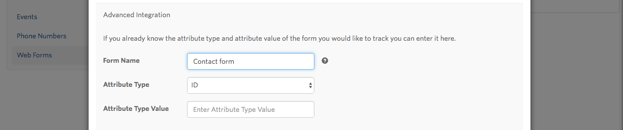 Give your Form a Name for Form Tracking