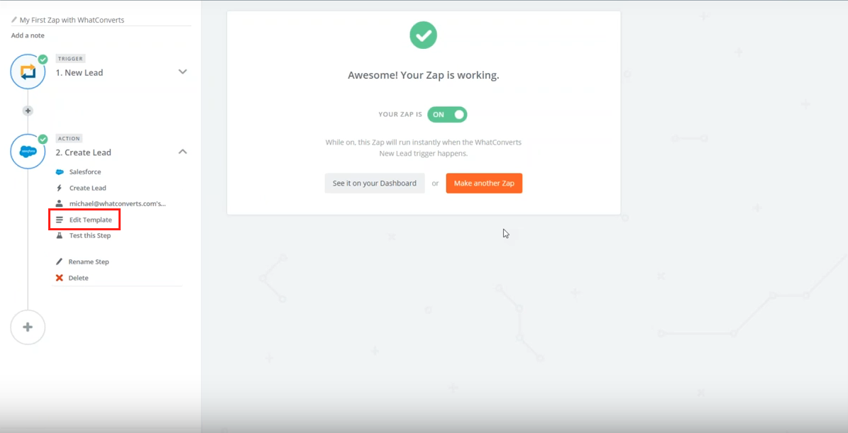 Edit Zapier Template