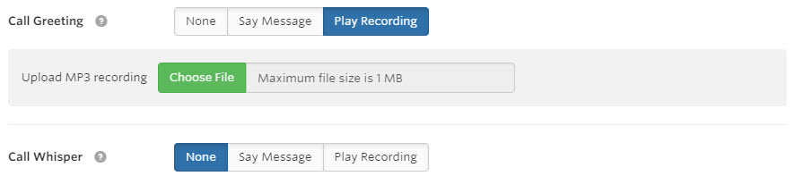 Upload a MP3 recording
