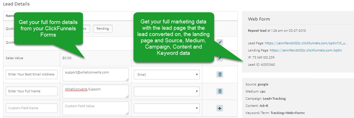 ClickFunnels Form Submission
