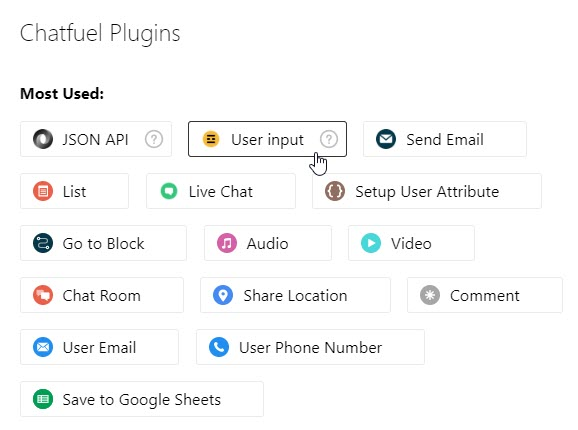 User Input Plugin