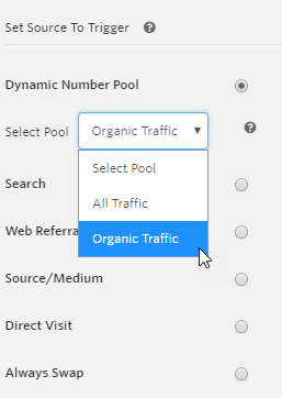 Select Organic Traffic Pool