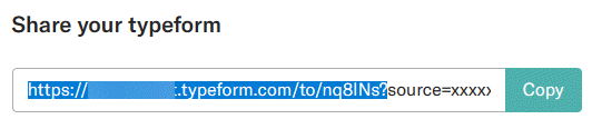 Copy your Typeform URL