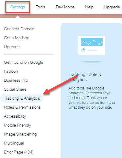 New Wix How to Add Analytics