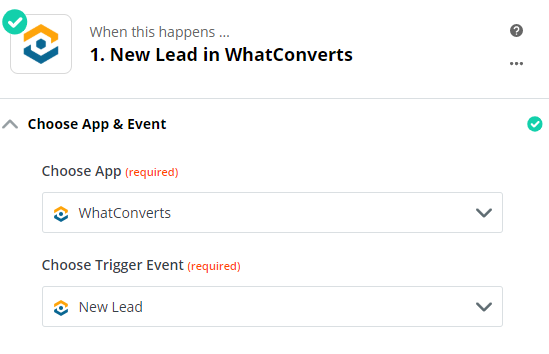 New Lead in WhatConverts