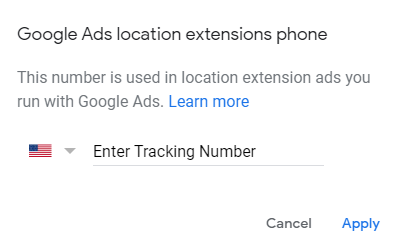 Location Extension Call Tracking