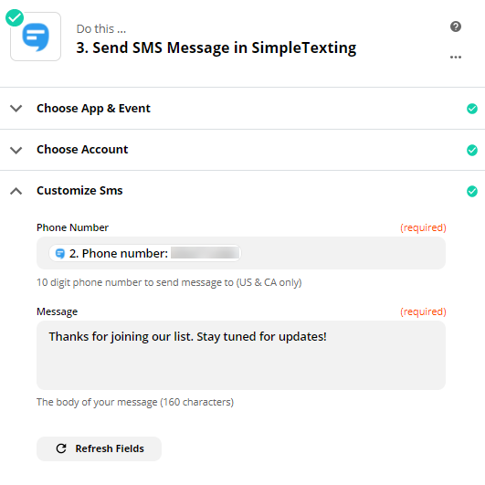 Message from SimpleTexting
