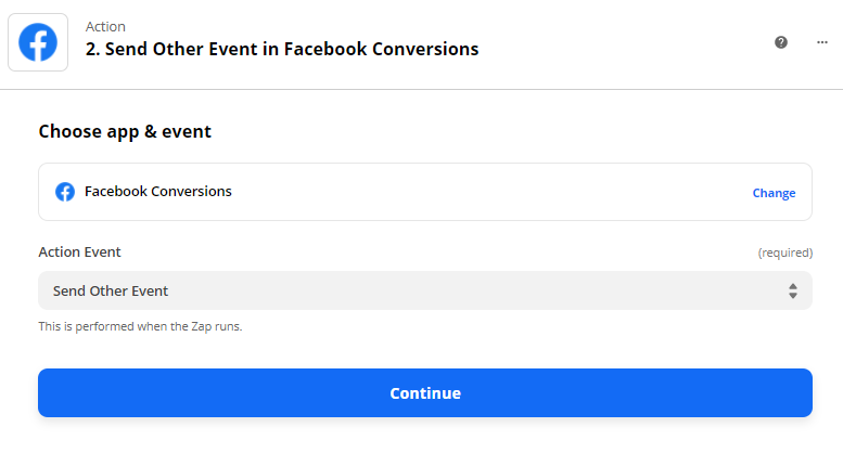 Send event from WhatConverts to Facebook
